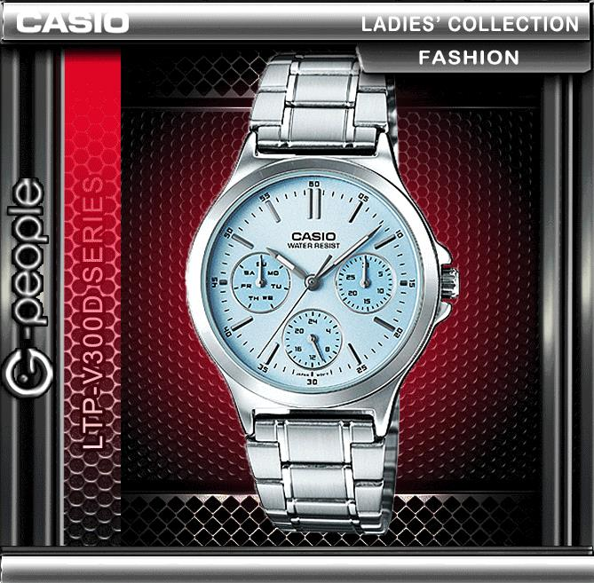 CASIO LTP-V300D-2A LADIES MULTI-HAND WATCH ☑ORIGINAL☑
