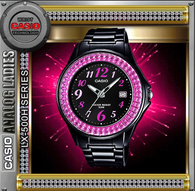 CASIO LX-500H-1B ANALOG LADIES WATCH☑ORIGINAL☑