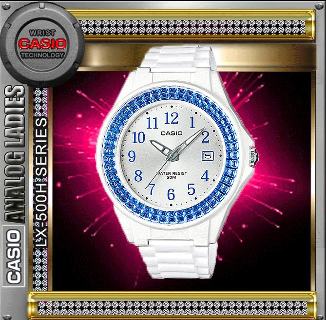 CASIO LX-500H-2B ANALOG LADIES WATCH☑ORIGINAL☑