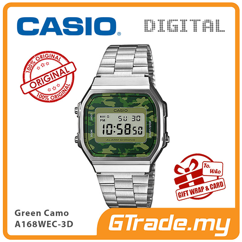 1a024391fd40 CASIO Men A168WEC-3D Digital Watch