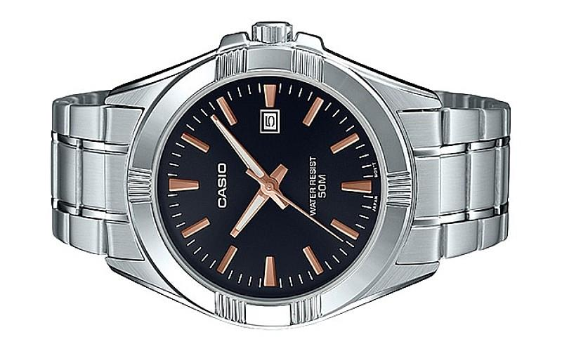 Casio Men Analog Stainless Steel Date Watch MTP-1308D-1A2VDF