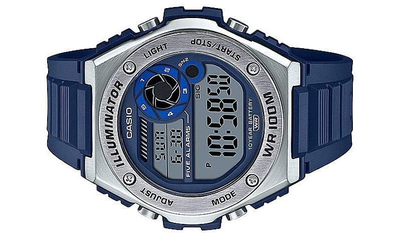 CASIO Men Dual Time 10 Years Battery Digital Watch MWD-100H-2AVDF