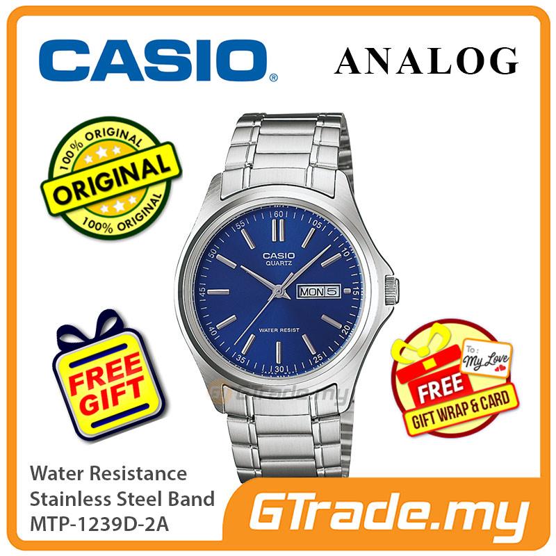 Casio Men MTP-1239D-2A Analog Watch Jam Tangan Analog Lelaki [PRE]