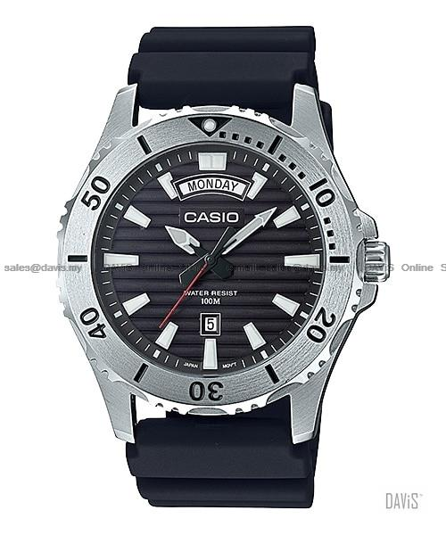 CASIO MTD-1087 STANDARD analog day-date diver look resin strap