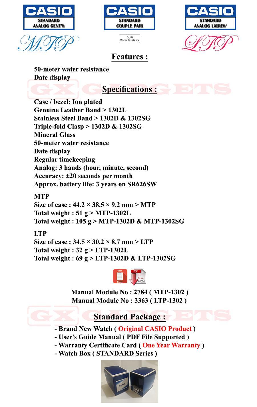 Casio Wr50m Manual Stihl Chainsaw Parts Diagram Besides Fs 55 Carburetor Array Mtp 1302l 1b3v Standard Analog Mens Watch Date G Leather B Rh