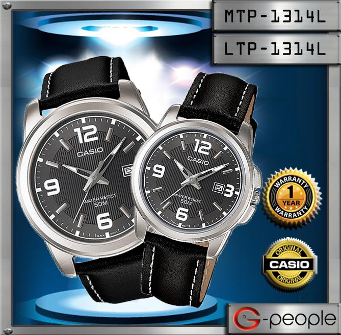 CASIO MTP-1314L-8AV + LTP-1314L-8AV LADY PAIR WATCH☑ORIGINAL