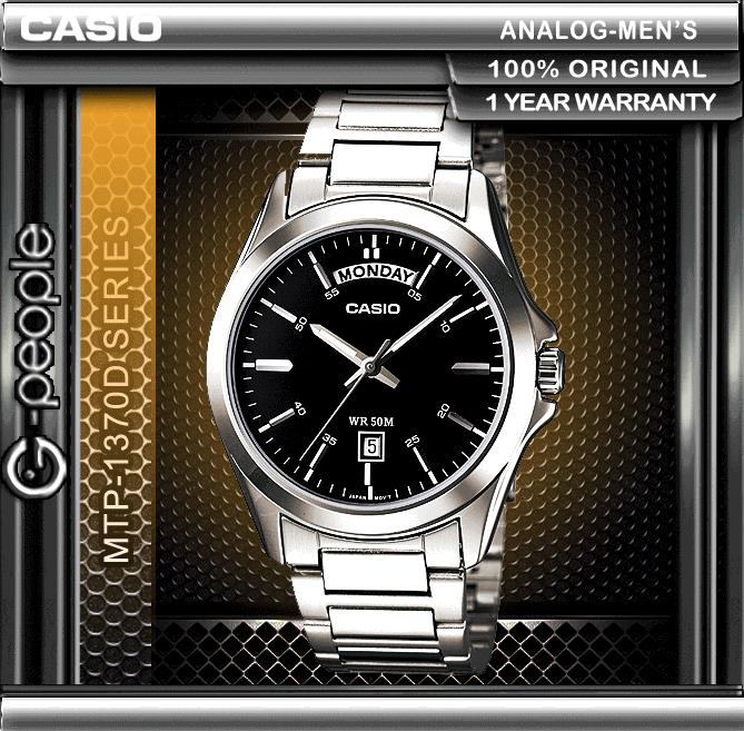 CASIO MTP-1370D-1A1V DAY AND DATE DISPLAY WATCH ☑ORIGINAL☑