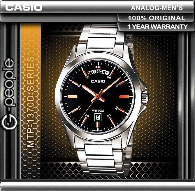 CASIO MTP-1370D-1A2V DAY AND DATE DISPLAY WATCH ☑ORIGINAL☑
