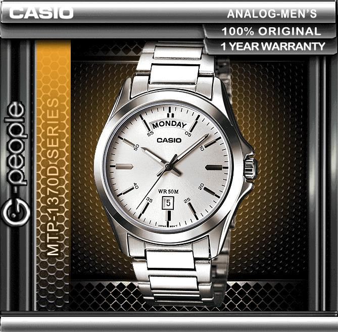 CASIO MTP-1370D-7A1V DAY AND DATE DISPLAY WATCH ☑ORIGINAL☑
