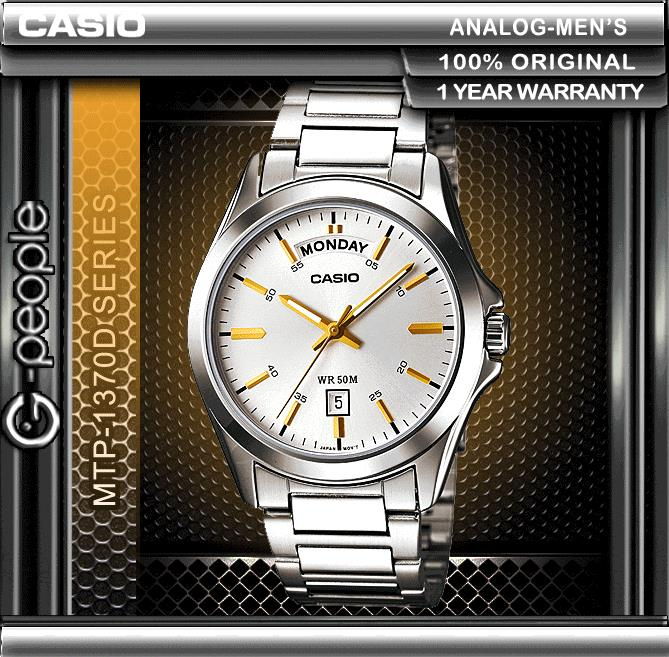 CASIO MTP-1370D-7A2V DAY AND DATE DISPLAY WATCH ☑ORIGINAL☑