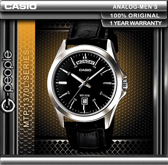 CASIO MTP-1370L-1AV DAY AND DATE DISPLAY WATCH ☑ORIGINAL