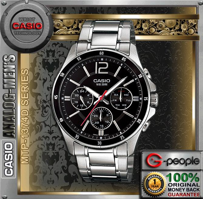 CASIO MTP-1374D-1AV MULTI-HAND WATCH ☑ORIGINAL☑