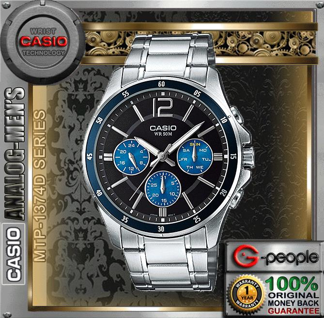 CASIO MTP-1374D-2AV MULTI-HAND WATCH ☑ORIGINAL☑