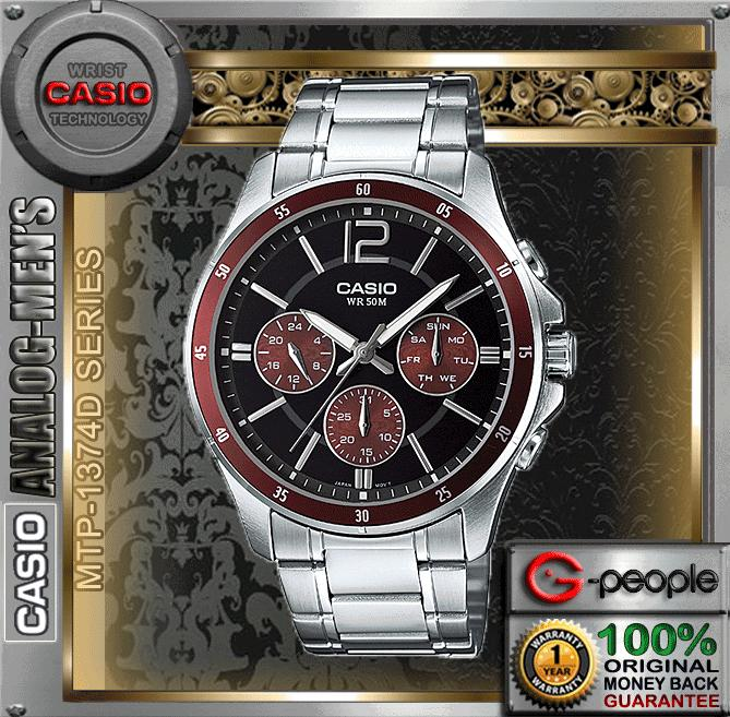 CASIO MTP-1374D-5AV MULTI-HAND WATCH ☑ORIGINAL☑