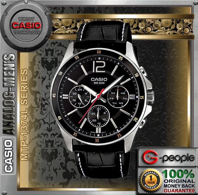 CASIO MTP-1374L-1AV MULTI-HAND WATCH ☑ORIGINAL☑