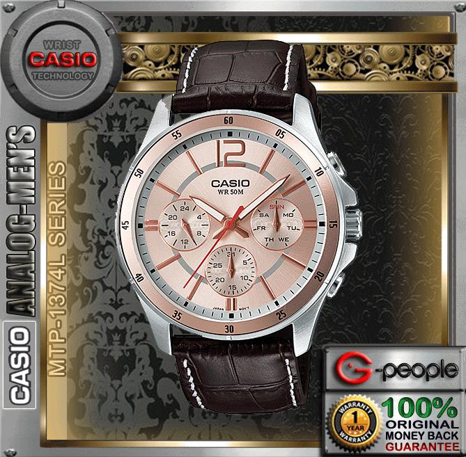 CASIO MTP-1374L-9AV MULTI-HAND WATCH ☑ORIGINAL☑