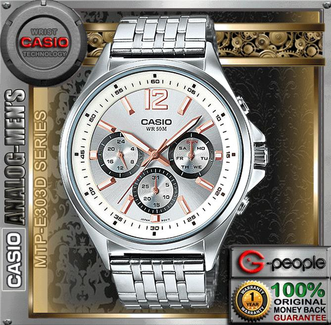 CASIO MTP-E303D-7AV MULTI-HAND GENT WATCH ☑ORIGINAL☑