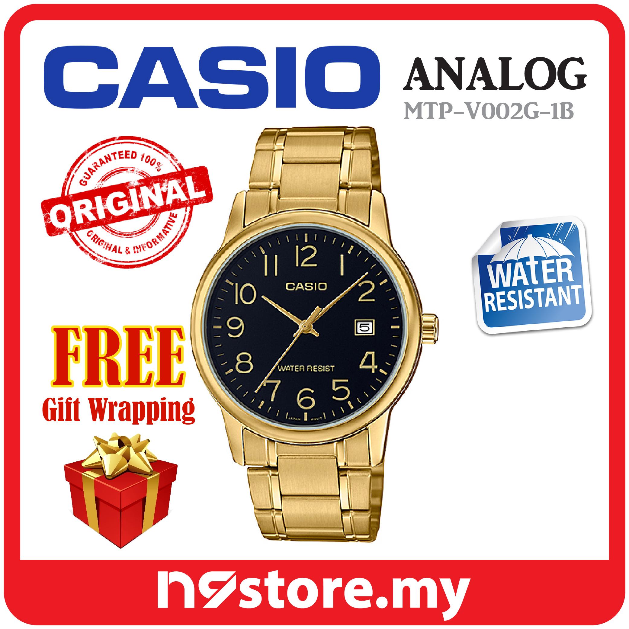 6c5159c6e Casio MTP-V002G-1B Standard Analog Men Display Date Stainless Steel Go. ‹ ›