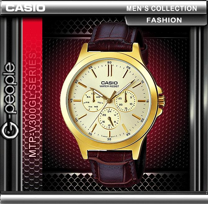 CASIO MTP-V300GL-9A GENTS MULTI-HAND WATCH ☑ORIGINAL☑