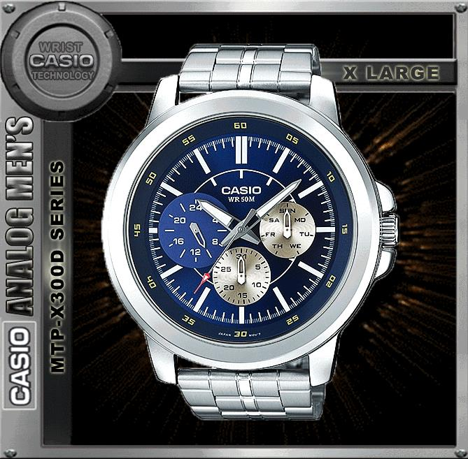 CASIO MTP-X300D-2E SPORTY BIG CASE WATCH ☑ORIGINAL☑