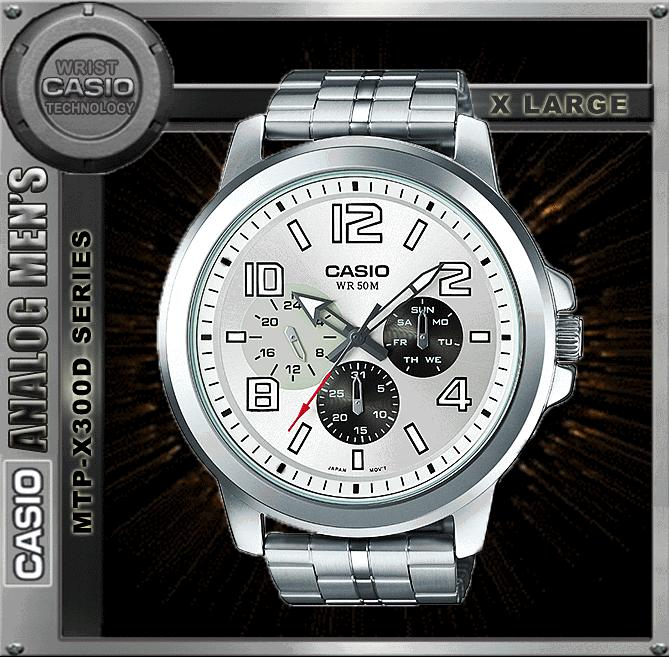 CASIO MTP-X300D-7A SPORTY BIG CASE WATCH ☑ORIGINAL☑