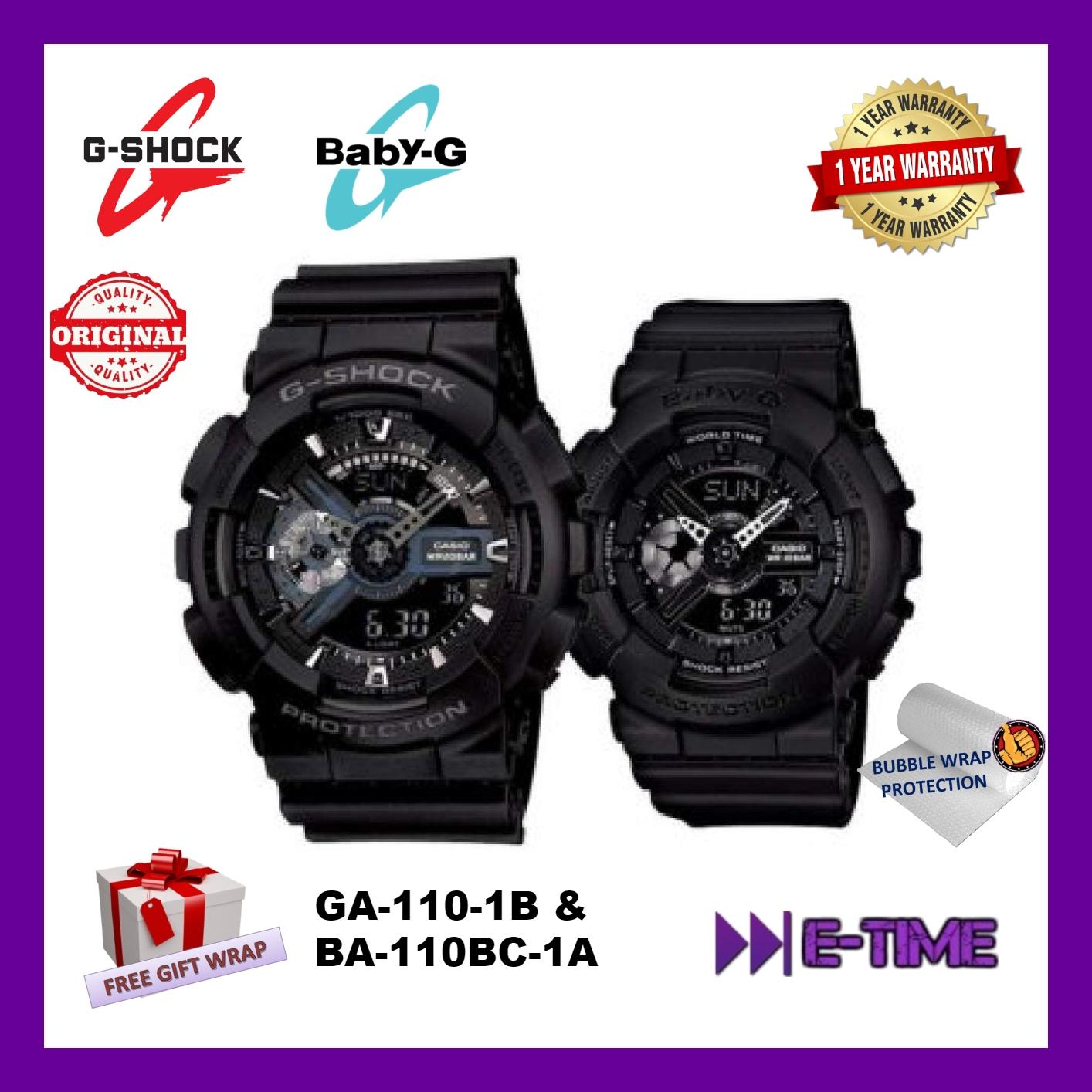 9a8067c7f9 CASIO ORIGINAL G-SHOCK/ BABY-G GA-110-1B/ BA-110BC-1A COUPLE SPORT WAT