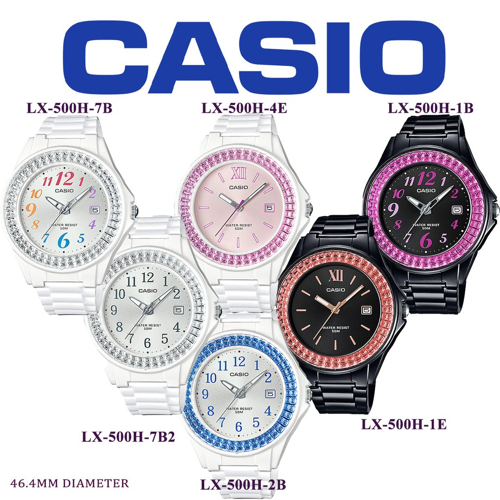 CASIO ORIGINAL LX-500H SERIES YOUTH ANALOG-LADIES WATCH