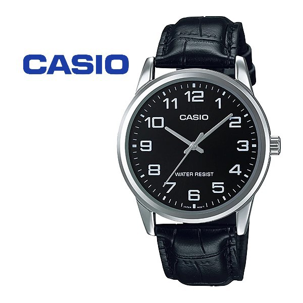 CASIO ORIGINAL MTP-V001L-1B STANDARD ANALOG-MEN'S WATCH