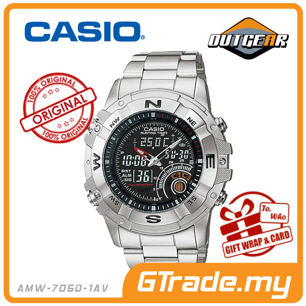 CASIO OUTGEAR AMW-705D-1AV Hunting Gear Watch | Timer.Thermo.Moon.Data