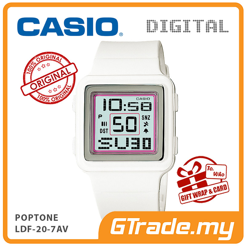 CASIO POPTONE LDF-20-7AV Kids / Ladies Digital Watch | Cute Color