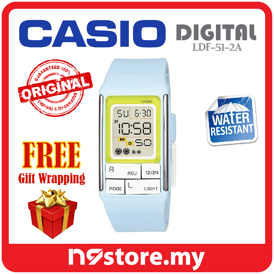Casio Poptone LDF-51-2A Ladies / Kids Pop Color Digital Watch