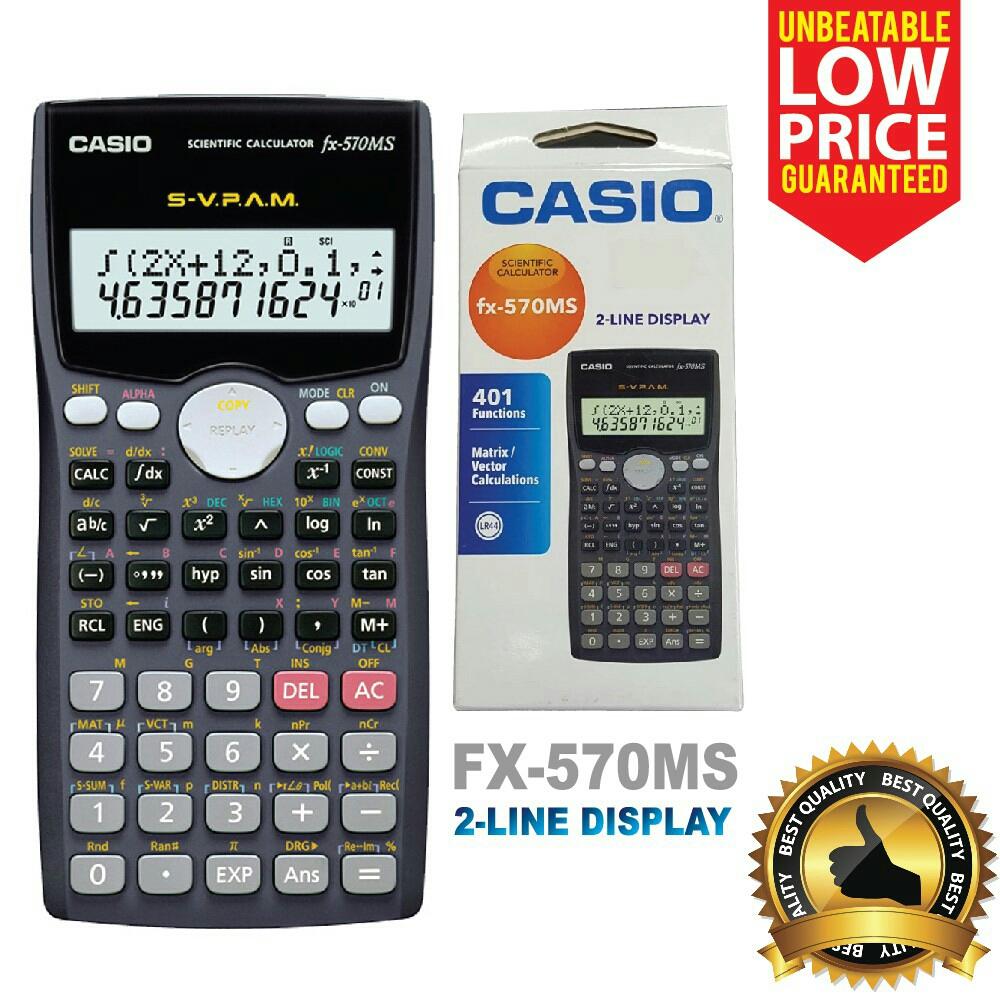 Casio Scientific Calculator Fx 570ms Itravelpages 570es Plus 2 Line Display Oem