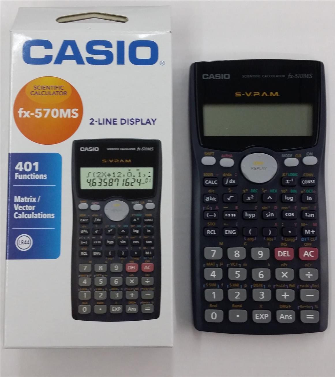 Casio Scientific Calculator Fx 570m End 9 2 2016 915 Pm 570ms Fx570ms Original