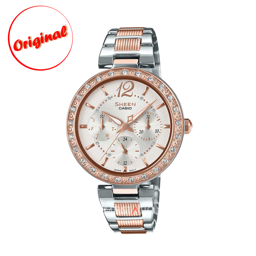hot sales 97d49 8bb77 CASIO | SHEEN | MULTI HAND | SHE-3065SPG-7A