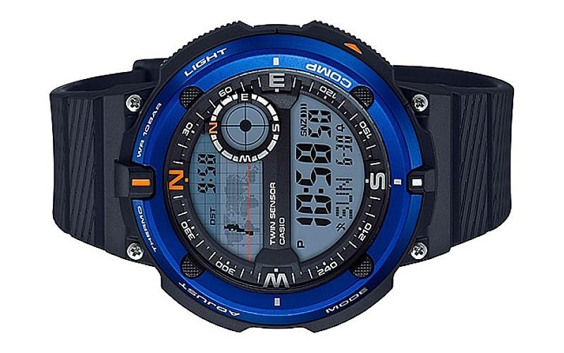 CASIO Sports Gear Twin Sensor Rubber Watch SGW-600H-2ADR