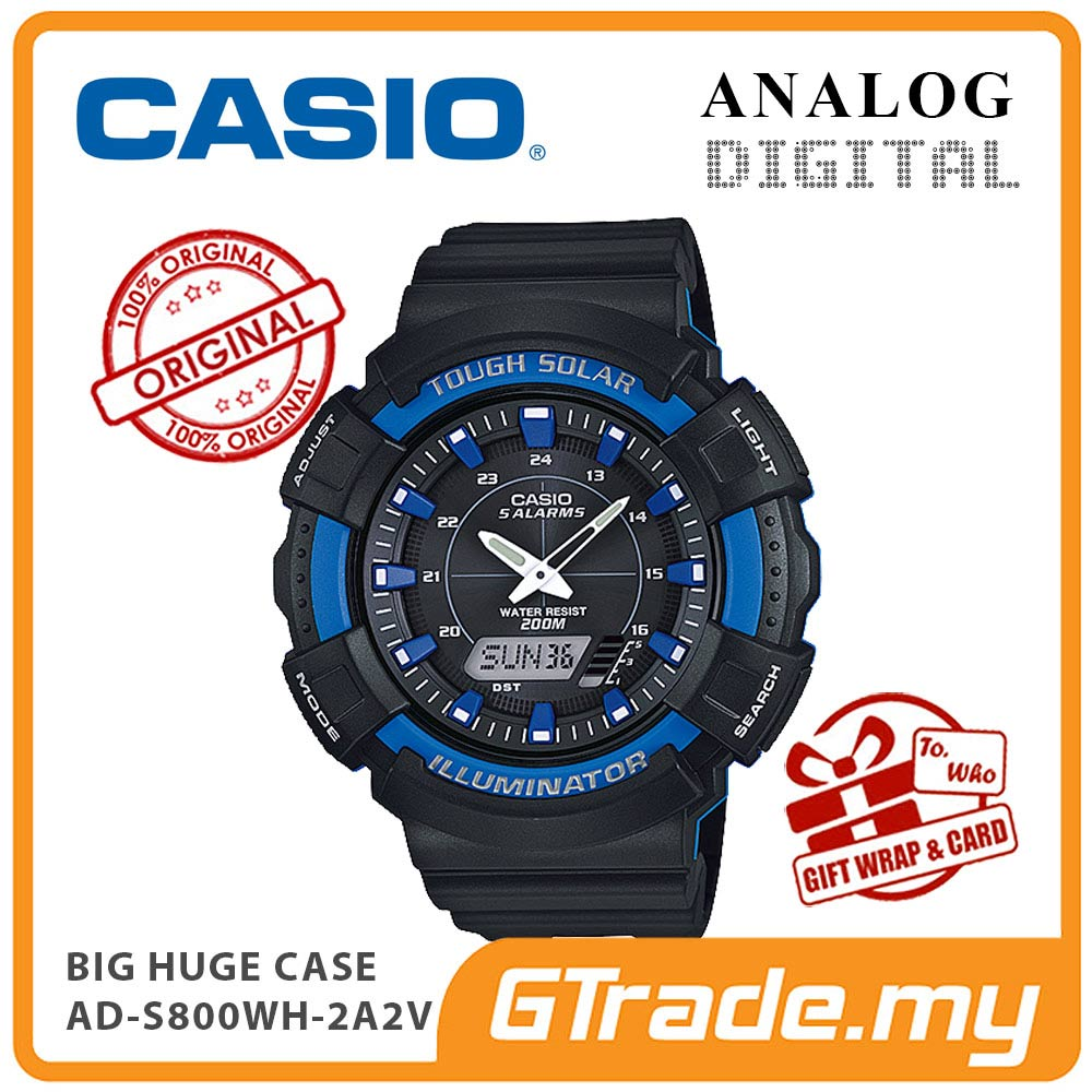 CASIO STANDARD AD-S800WH-2A2V Analog Digital Watch | BIG Case Solar