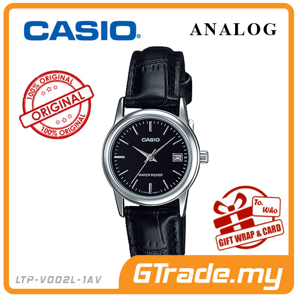 CASIO STANDARD LTP-V002L-1AV Analog Ladies Watch | Date Display WR