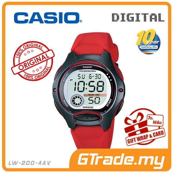 CASIO STANDARD LW-200-4AV Digital Watch | 10 Yrs Battery Life Petide