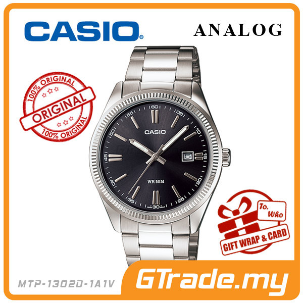 CASIO STANDARD MTP-1302D-1A1V Analog Mens Watch | Date Display WR50m
