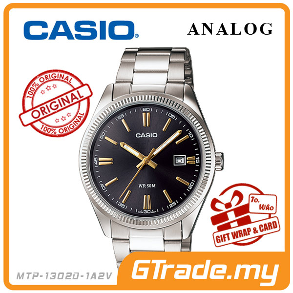 CASIO STANDARD MTP-1302D-1A2V Analog Mens Watch | Date Display WR50m