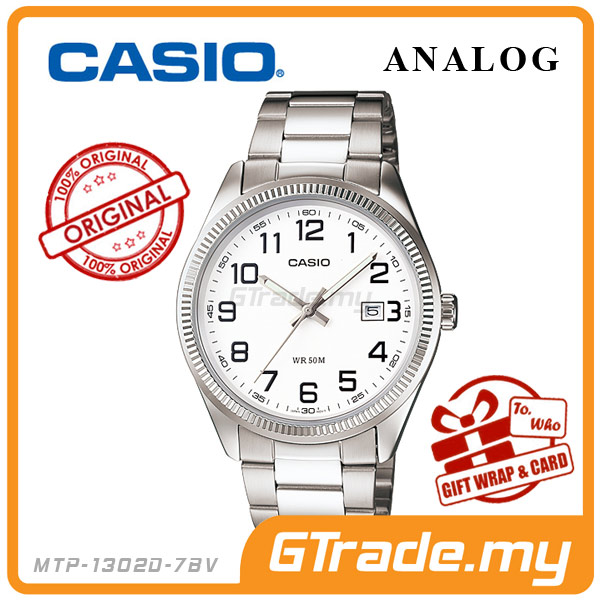 CASIO STANDARD MTP-1302D-7BV Analog Mens Watch | Date Display WR50m