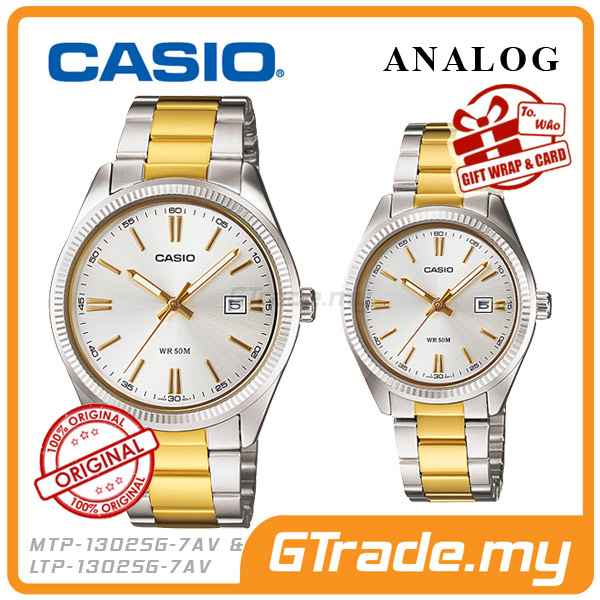 CASIO STANDARD MTP-1302SG-7AV & LTP-1302SG-7AV Analog Couple Watch
