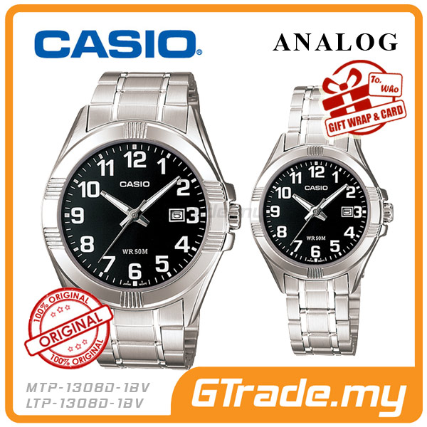 CASIO STANDARD MTP-1308D-1BV & LTP-1308D-1BV Analog Couple Watch