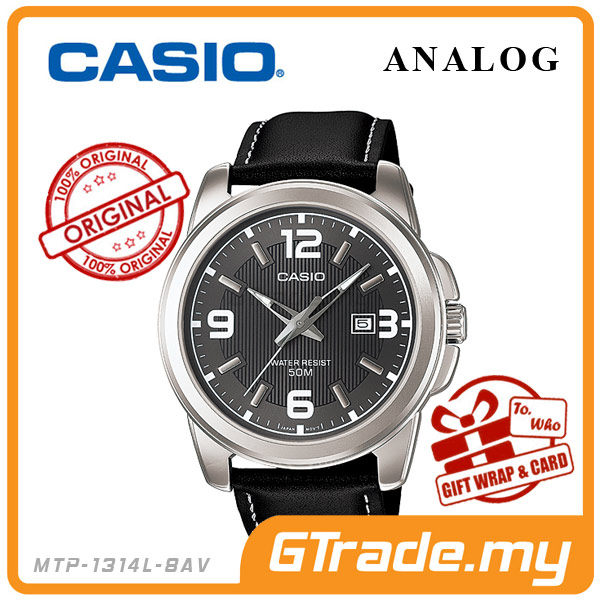 CASIO STANDARD MTP-1314L-8AV Analog Mens Watch | Date Display WR50m