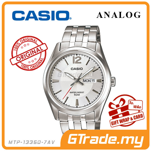 CASIO STANDARD MTP-1335D-7AV Analog Mens Watch | Day Date Display