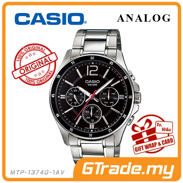 CASIO STANDARD MTP-1374D-1AV Analog Mens Watch | Date Day Display