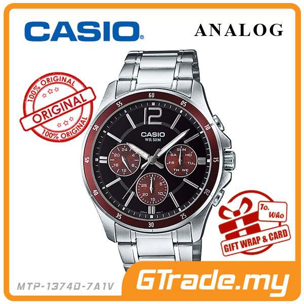 CASIO STANDARD MTP-1374D-5AV Analog Mens Watch | Date Day Display