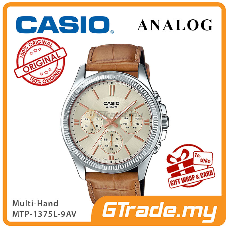 CASIO STANDARD MTP-1375L-9AV Analog Mens Watch | Multi-Hand 50M WR