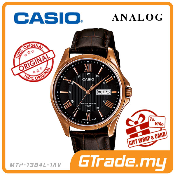 CASIO STANDARD MTP-1384L-1AV Analog Mens Watch | Day Date Display