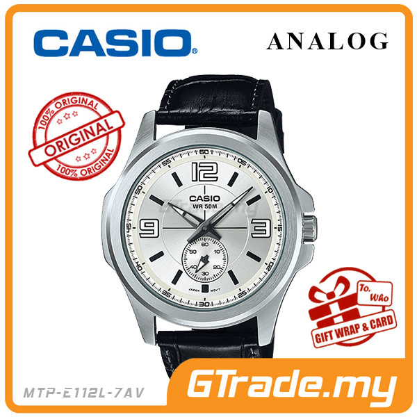 CASIO STANDARD MTP-E112L-7AV Analog Mens Watch | 50m Water Resist.